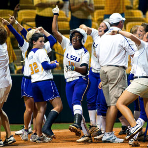Anissa Young hit a pair of walk-off home runs in LSU's sweep of Alabama.
