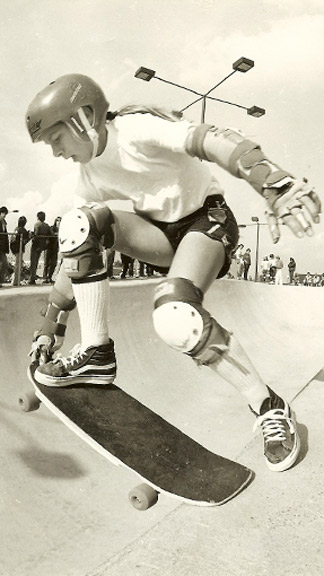 Burnside's career dates back to the golden era of bowl skating in the early '80s.