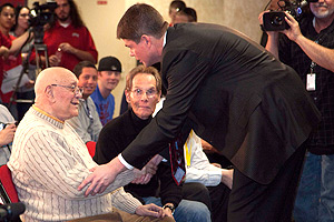 Jerry Tarkanian was there for Dave Rice when he was introduced as UNLV's new coach in 2011.