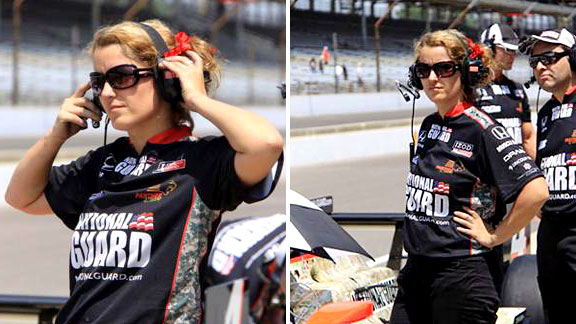 Anna Chatten is a front-end mechanic for rookie JR Hildebrand, who qualified 12th for the Indianapolis 500.