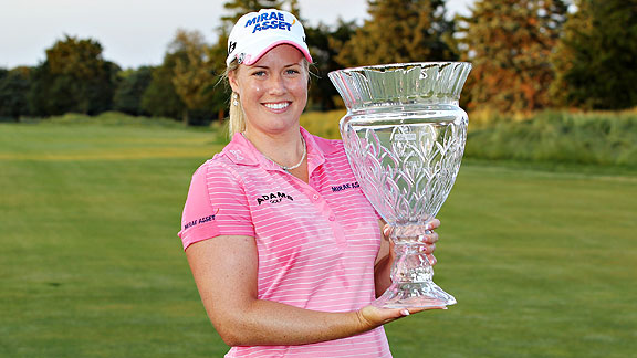 Brittany Lincicome moved up nine spots in the world rankings to No. 15 after her weekend LPGA victory.