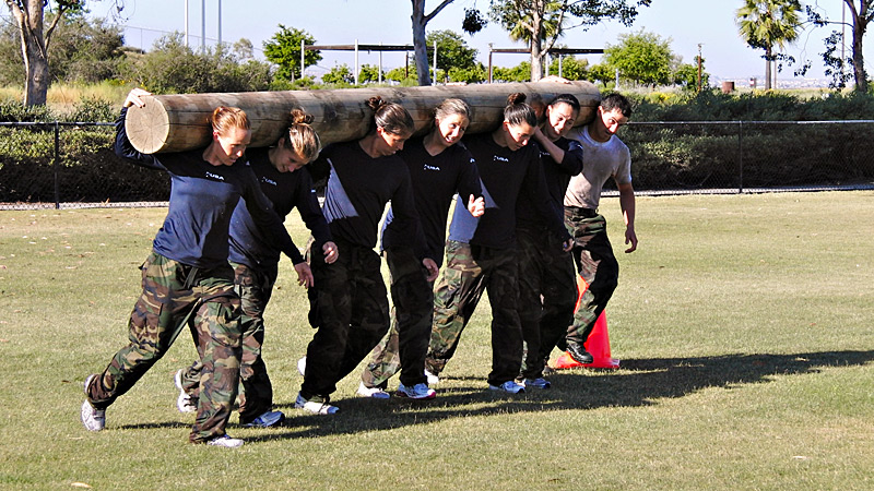 Navy Seals Training with USA Field Hockey Team