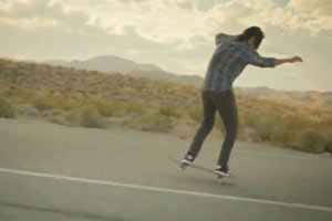 Kenny Anderson in the midst of a lengthy nose manual in endorsement of his new pro shoe.