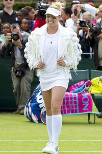 Bethanie Mattek-Sands' jacket was designed by Alex Noble, who also has collaborated with Lady Gaga.