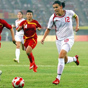 Christine Sinclair and Canada are gunning for Germany in the Women's World Cup opening match.