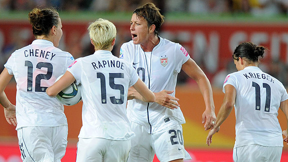 Abby Wambach broke her scoreless curse against Sweden, giving the Americans a momentary boost.