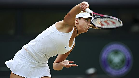 Sabine Lisicki's serve was once unofficially clocked at more than 130 mph; officially it was enough to get her to the semifinals of Wimbledon.