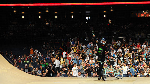 Jamie Bestwick took home his ninth gold medal, stepping up his game and proving his career seniority to five-peat in the BMX Big Air final.