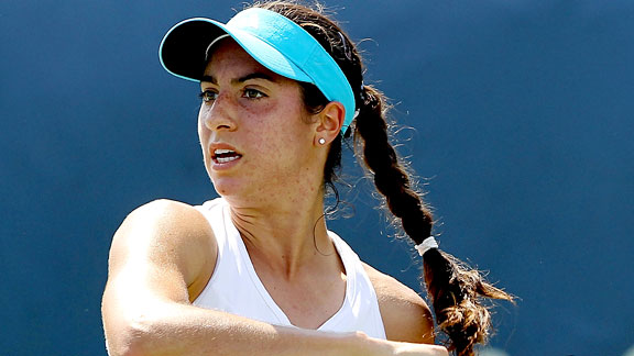 New Jersey native Christina McHale, 19, upset world No. 1 Caroline Wozniacki in Cincinnati Wednesday.
