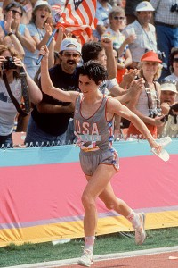 Joan Benoit's 2:24:52 at the 1984 Olympic marathon is the new American record, though Deena Kastor has run 2:19:36 and Benoit herself has run 2:21:21.