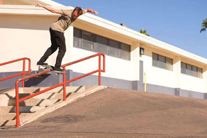 Robbie Brockel hits a bump to backside lipslide and holds on for the duration.