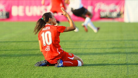 Without Division I sanctioning, WPS could lose international stars such as Marta of the league-champion Flash.