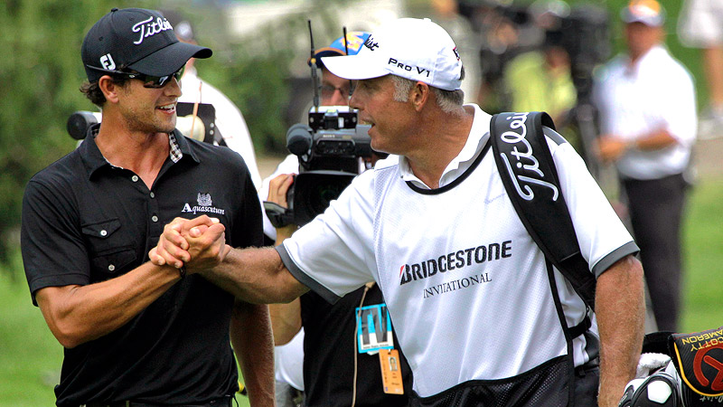 Adam Scott & Steve Williams