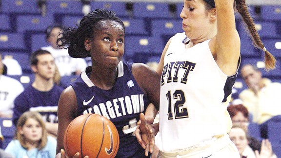 Sugar Rodgers is the leader of the Georgetown program even though she's a junior.