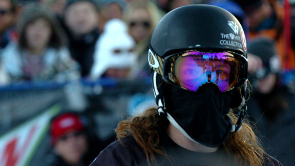 Two-time Olympic gold medalist Shaun White awaits his score after his first run of the men's Superpipe finals. His winning run included two double corks and was enough to edge out second and third place finishers Louie Vito and Iouri Podladtchikov.