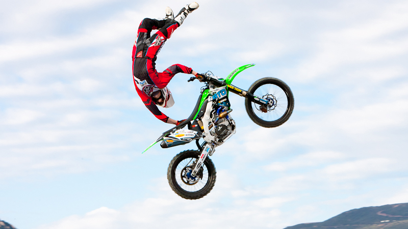 Brazilian FMX riders Fred Kyrillos and Jeff Campacci in So Cal