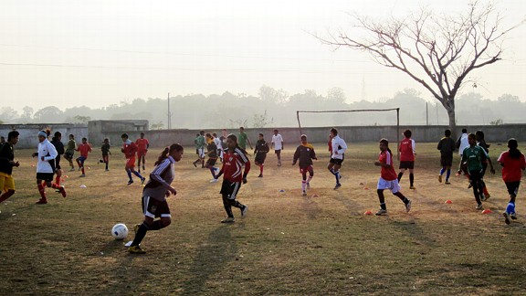 Girls Soccer in India