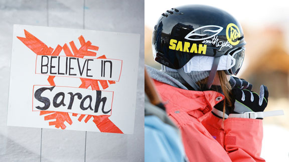 There were many tributes to Sarah Burke during Winter X Aspen.