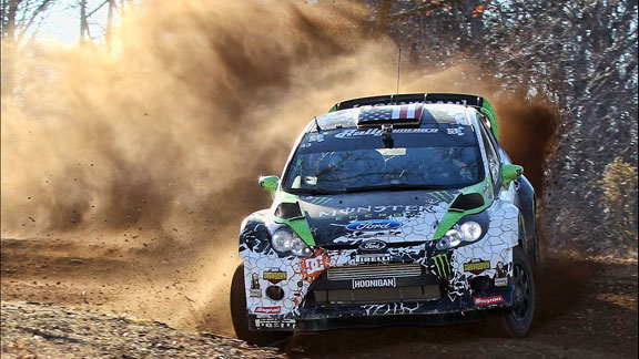 Ken Block competing at the recent 100 Acre Wood Stage Rally in Missouri.