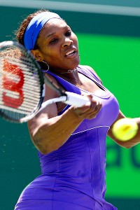 Serena Williams returned from an ankle injury to win at the Sony Ericsson.