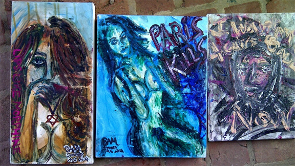 Samples of recent artwork from Bam Margera.