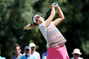 Lexi Thompson, 17, finished with a 68 and in a tie for 12th. Now, about that prom date.