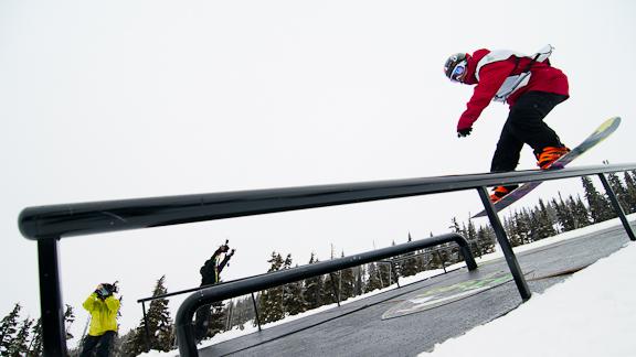 Shred Show slopestyle winner Antoine Truchon.