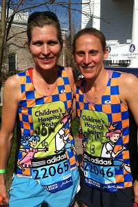 Kristine Lilly is running her first marathon with her friend, Jodi.