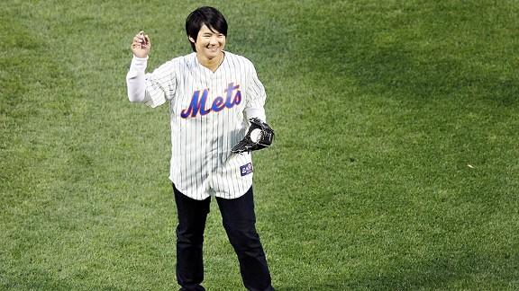 Yani Tseng says she was honored to throw out the ceremonial first pitch at a recent Mets game.