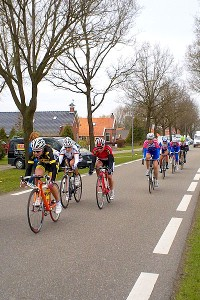 A shot of the road race at the Energiewacht Tour in Holland. As for why Kathryn took the picture instead of being in it ... well, that's bike racing.