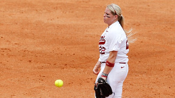 An all-conference hitter, Amanda Locke also filled in superbly on the mound Saturday.