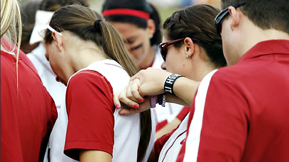 Alabama softball has a singular focus this year, and that's signified by the Finish IT wristband.