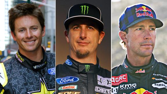 Tanner Foust, Ken Block, Travis Pastrana