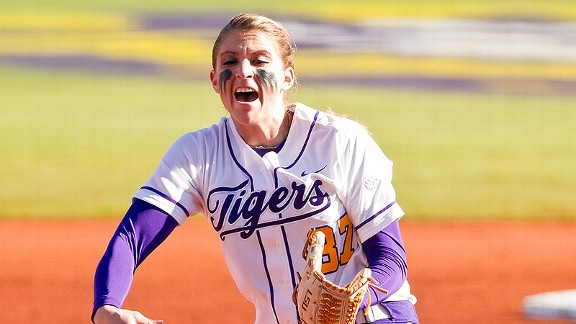 LSU pitcher Rachele Fico was the first pick in the NPF draft on Monday.