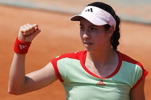 Christina McHale, celebrating her win over Kiki Bertens of the Netherlands in the first round at the French Open, will next face fellow American teenager Lauren Davis.
