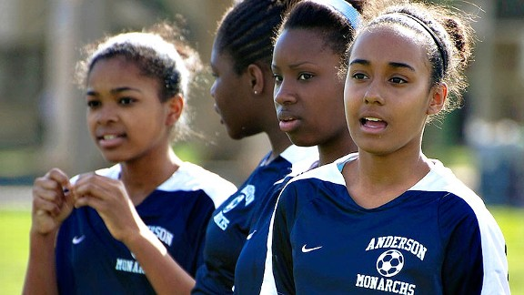 Title IX's reach often falls short of girls in low-income communities, such as these soccer players from Philadelphia.