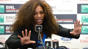 Serena Williams is never shy with a microphone in front of her.