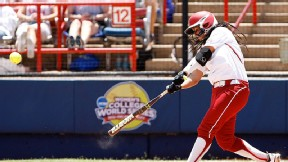 Lauren Chamberlain set the single-season Big 12 home run record as a freshman with 30.