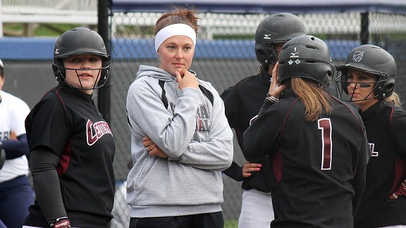 Mallory Holtman recently completed her second season as softball coach at her alma mater, Central Washington.
