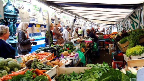 This farmer's market offered a tempting detour on the way to the tennis courts at Roland Garros.
