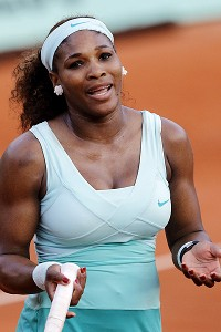Serena Williams lost in the first round of a Grand Slam for the first time in her career at the 2012 French Open.