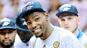 Kevin Durant and his teammates can't be held responsible for owner Clay Bennett shipping the team to Oklahoma City.