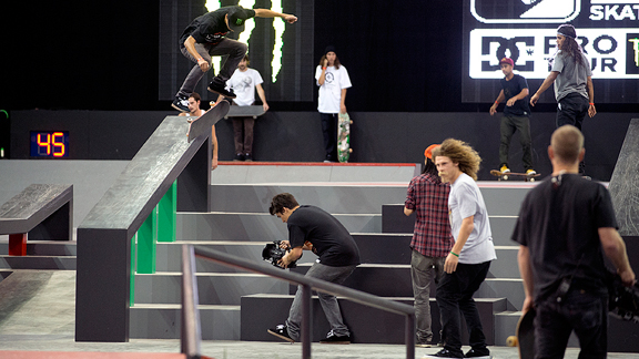 Nyjah Huston's kickflip 5-0 was only one of many tricks which wowed the crowd and earned him first place. Seeing is believing.