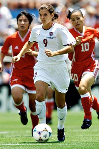 Hamm could dazzle with her brilliance on the field and impress with her graciousness off it.