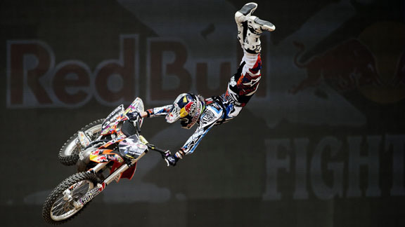 Levi Sherwood soared to first place at the Red Bull X-Fighters 2012 opener in Dubai. Now he has his eye on X Games gold.