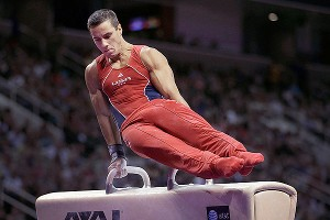 Jake Dalton's fall from the pommel horse was his only significant mistake of the day.