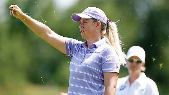 Co-leader Brittany Lincicome also led the Women's Open after the first round in 2004, as an amateur.
