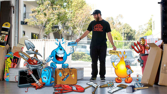 World Industries pro Andrew Cannon bids farewell to Flameboy and Wet Willy.