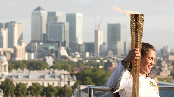 Women who have carried the Olympic torch compared the two-tenths of a mile run to a magic carpet ride.