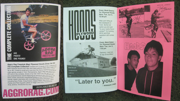 The Plywood Hoods, as seen in issue 13, with an ad for the upcoming Aggro Rag compilation to be released next year.